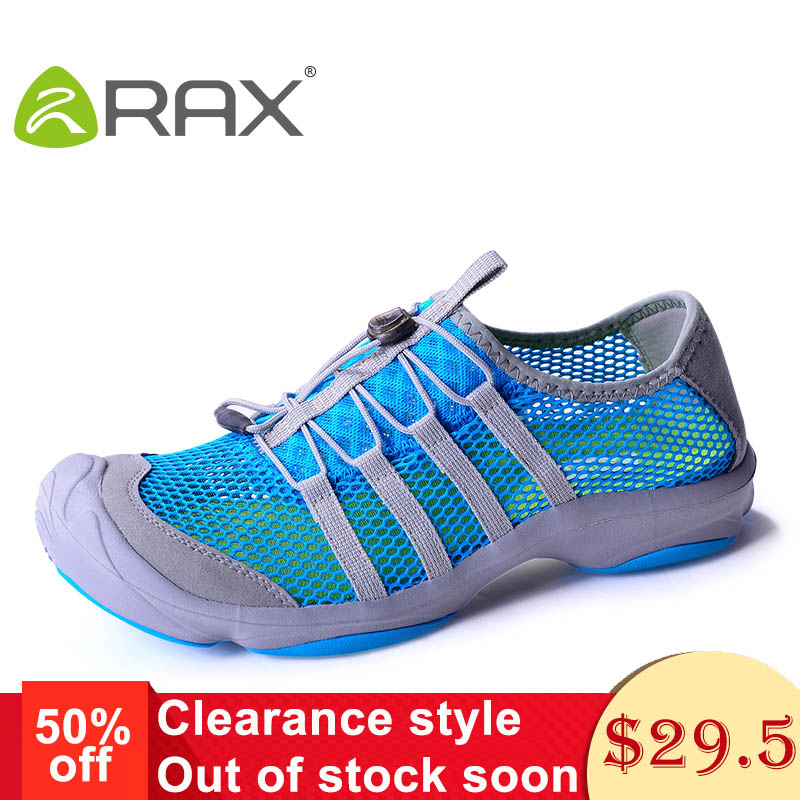 Rax Camping Hiking Shoes Men Summer Breathable Quick Drying Fishing Sneakers Women Lightweight Antiskid Outdoor Walking Shoes319 rax camping