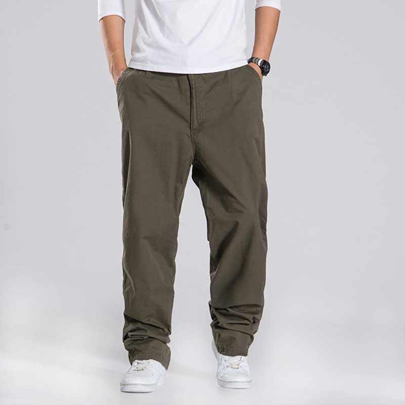 ฤดูใบไม้ผลิฤดูใบไม้ร่วงผู้ชายกางเกง Casual แฟชั่นเสื้อผ้ายุทธวิธีกองทัพกางเกงหลวม Baggy Hip Hop Joggers Plus ขนาด