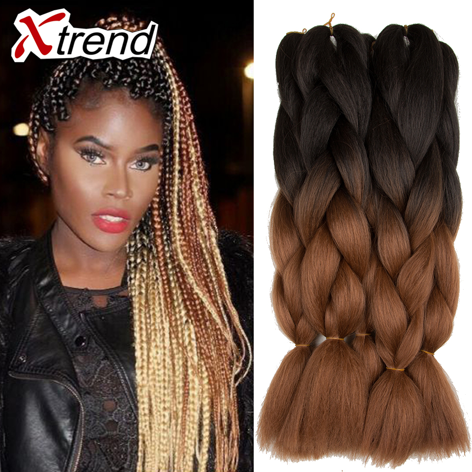 xpression kanekalon braiding hair sliver grey two tone ombre