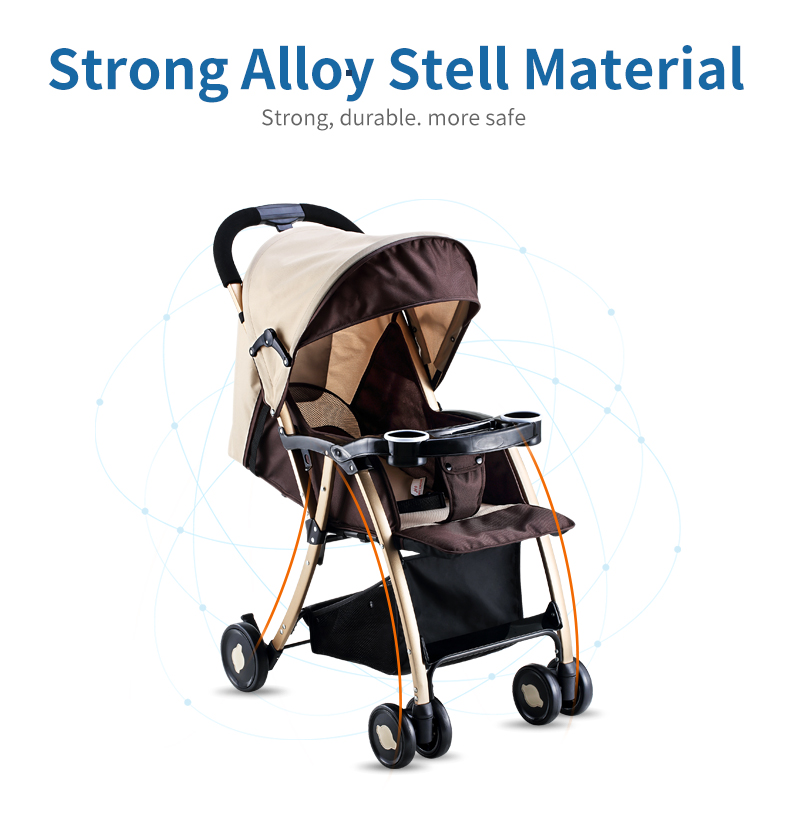 GL Baby Stroller Folding Umbrella Sit and Lie Portable Strong Alloy Steel Material 3
