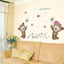 Коричневые медведи Наклейка на стену для детской комнаты домашний декор наклейка на стену в детскую стену