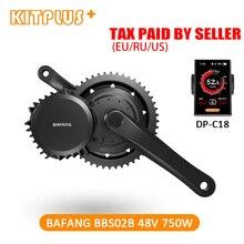 Bafang BBS02 двигателя 8Fun 48 V 750 W мотор E велосипед Conversion Kit середине диска велосипед мотор e-велосипед комплект Bafang 750 Вт двигатель