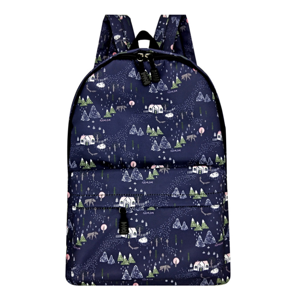 MOLAVE Casual Floral Cartoon Horse Printed Backpack Female Waterproof Nylon School Bag For Teenage Girls Travel Rucksack 10May10MOLAVE Casual Floral Cartoon Horse Printed Backpack Female Waterproof Nylon School Bag For Teenage Girls Travel Rucksack 10May10