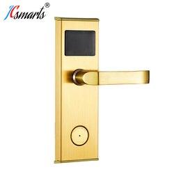 نوعية جيدة قفل باب بدون مفتاح الذكية الإلكترونية فندق قفل سبائك الزنك مقبض انتقاد IC/بطاقة الهوية فتح