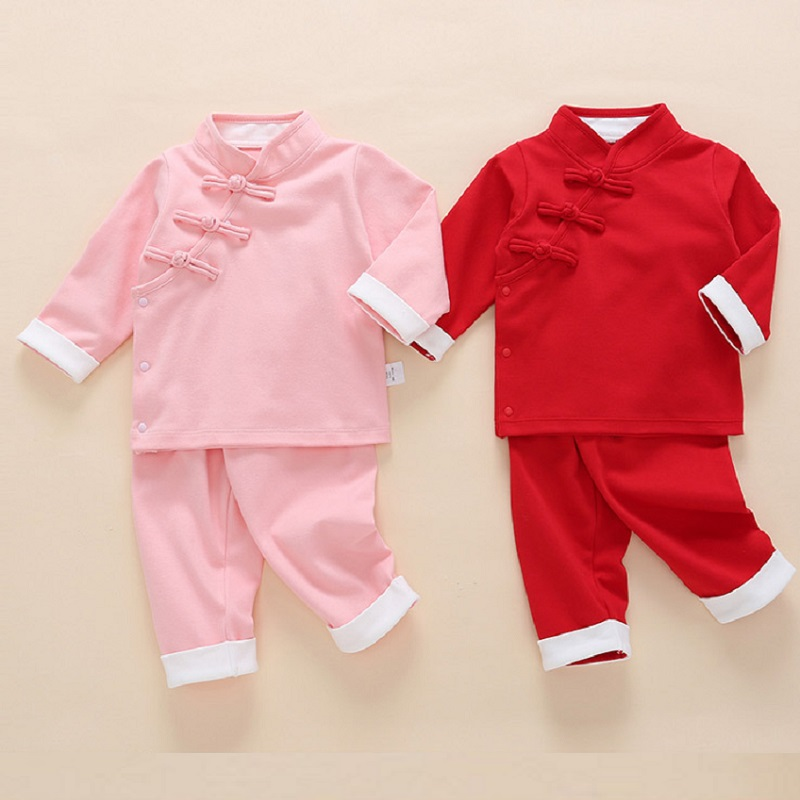 d2b6b72cf50a3 Chinese style baby clothes set for Autumn and Spring 1 year old baby girl and  boy outside clothing hot sale in 2019 ~ Best Deal July 2019