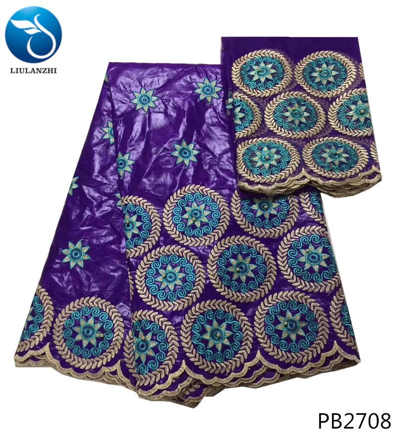 Ev ve Bahçe'ten Kumaş'de LIULANZHI afrika bazin pamuk batik kumaş jakarlı brokar kumaş fiyat 5 + 2 yards/lot ucuz toptan kumaş PB27'da  Grup 1