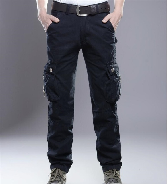 960d915efa66 2016 Brand New Mens Military Cargo Pants Multi-pockets Baggy Men Pants  Casual Trousers Overalls