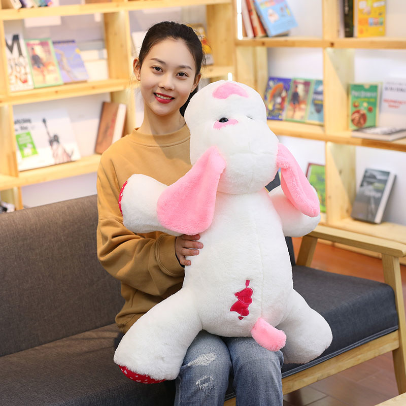 100 Cm Soft Cupid Dog Plush Toy Plump Body Adorable Love Heart Dog Cushion Stuffed Doll Pillow For Kids Or Lover 39 s Gift in Stuffed amp Plush Animals from Toys amp Hobbies