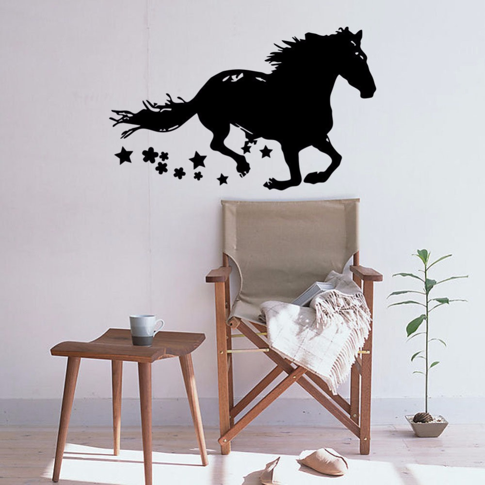 Personalized Horse Lover Home Decor Running Horse Vinyl Wall Decal