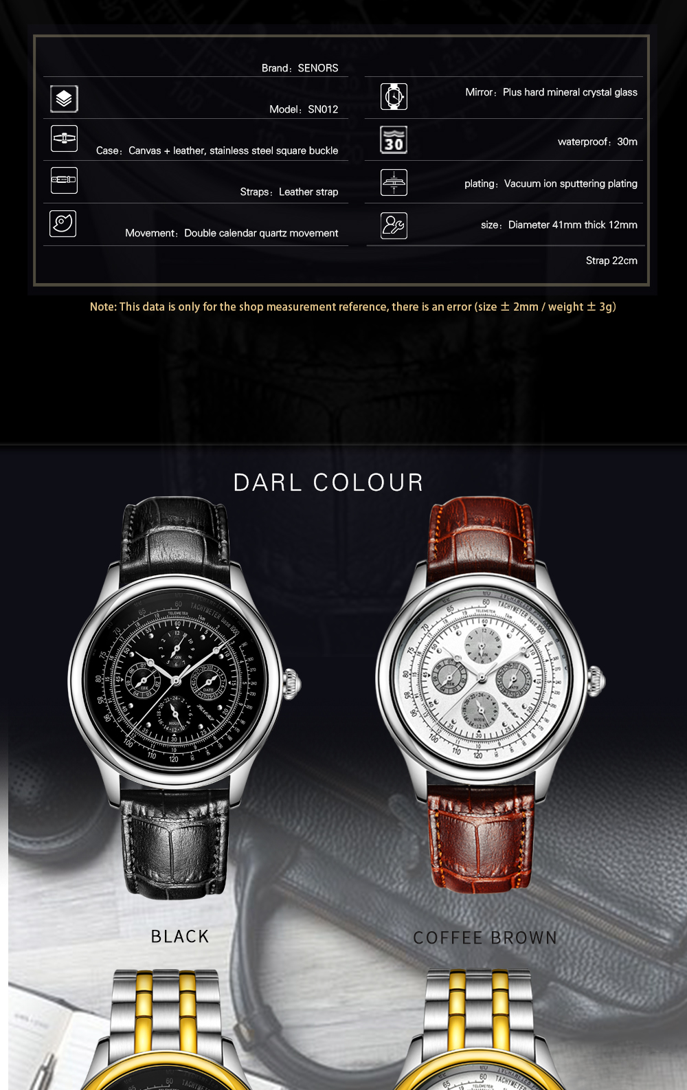 Senors Automatic Mechanical Watch For Men Stainless Steel (3)