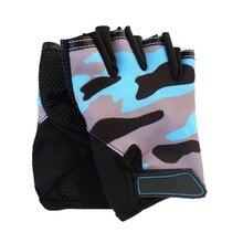 Перчатки для верховой езды детские дышащие перчатки для верховой езды на полпальца высокая эластичность Спорт на открытом воздухе катания на роликах горный велосипед дети