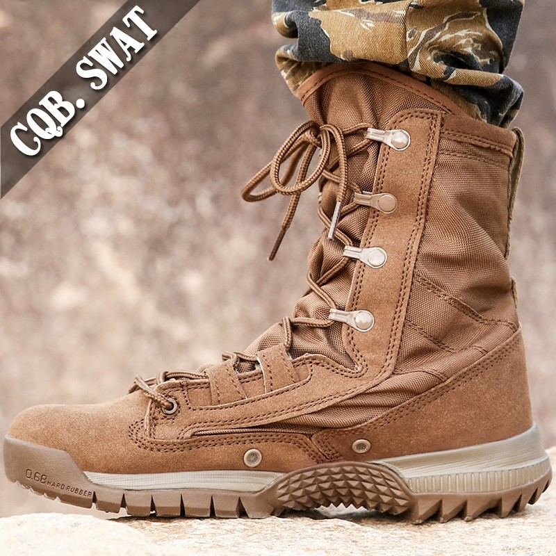 Men/'s Canvas Martin Ankle Boots Outdoor High-top Military Tactical Combat Shoes