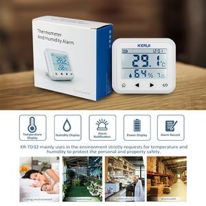 Image 3 - KERUI اللاسلكية LED عرض قابل للتعديل درجة الحرارة والرطوبة جهاز استشعار إنذار للكشف عن حماية السلامة الشخصية والممتلكات