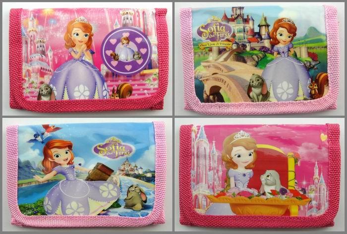 12Pcs Princess Sofia Girls Coin Purse Cute Kids Cartoon Wallet Kawaii Bag Pouch Children Purse Small Wallet Party Supplies Gift