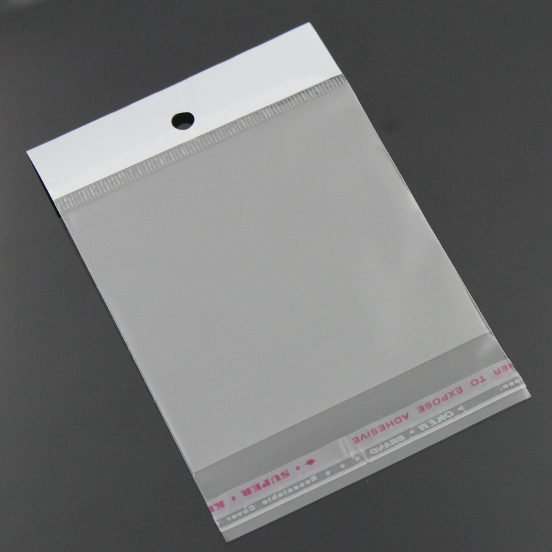 8SEASONS Plastic Bags Clear Self Adhesive Seal 11x7cm,100PCs  (B23165)