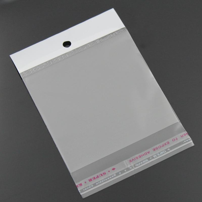 8SEASONS Plastic Bags Clear Self Adhesive Seal 11x7cm,100PCs  (B23165)