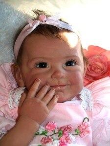 Image 2 - Npk 새로운 도착 55 cm 고품질 자기 젖꼭지 현실적인 수제 아기 인형 살아있는 소녀 사랑스러운 실리콘 reborn bebes 인형