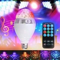 Smuxi 스마트 전구 블루투스 스피커 LED RGB 빛 E27 자료 무선 음악 플레이어 원격 컨트롤러