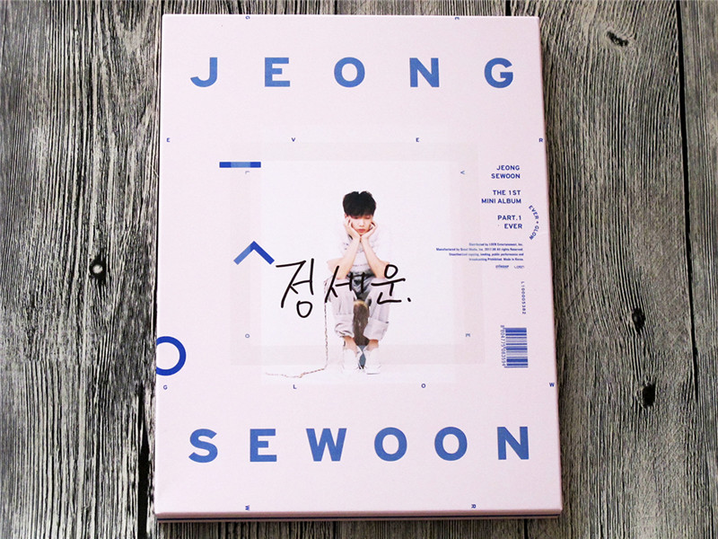 signed PRODUCE101 Jeong Sewoon autographed mini1st album Ever CD+signed poster K-POP 092017 image