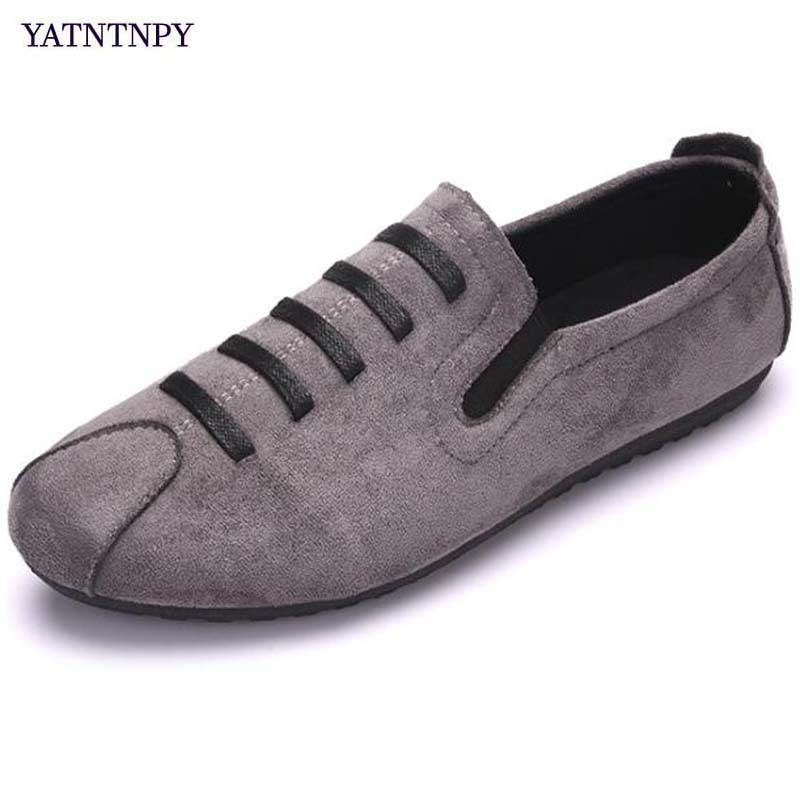 YATNTNPY Comfortable Men Casual Shoes Slip-On flat Loafers Man Driving Moccasins leisure sneakers Soft espadrilles Sapatos