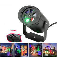 Party 7 Types Christmas Decoration Night Light Holiday Laser Birthday Projector Outdoor LED Projection Lights