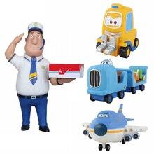 Новейшие Супер Крылья Мини фигурки из АБС-пластика Робот Игрушки суперкрылья Q версия милый мини самолет робот на день рождения подарок игрушка