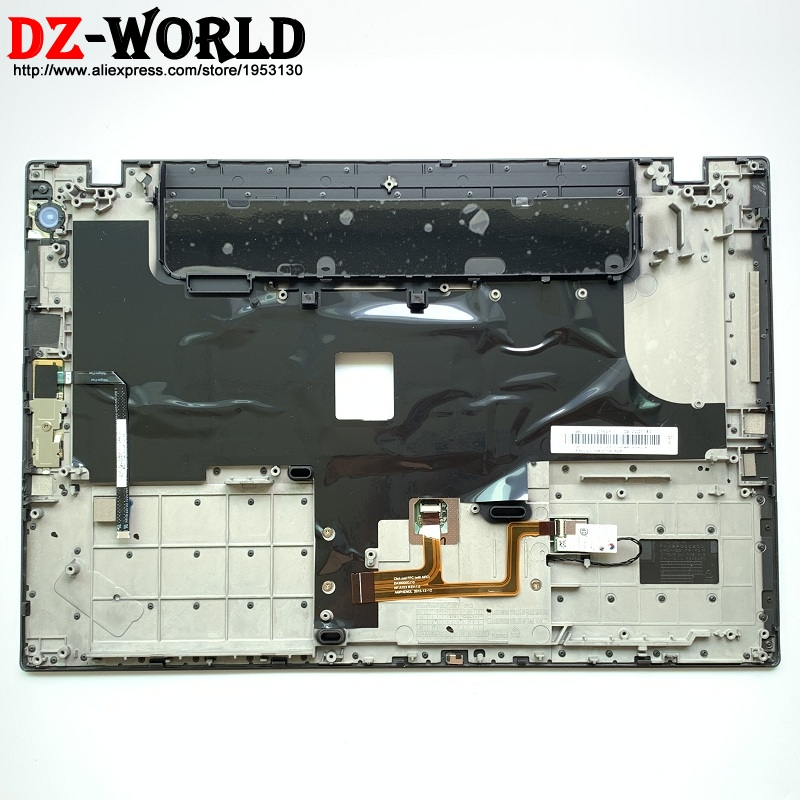 New Original for Lenovo ThinkPad T440 Keyboard Bezel Palmrest Cover UMA with <font><b>Touchpad</b></font> and Fingerprint and NFC <font><b>Cable</b></font> 04X5471 image