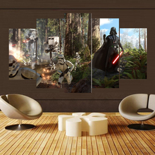 Wall Art Painting Canvas HD Print For Room Modern Decorative 5 Piece Science Fiction Cartoon Movie Star Wars
