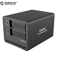 ORICO Aluminum Tool Free 2 Bay 3 5 SATA To USB 3 0 External Hard Drive