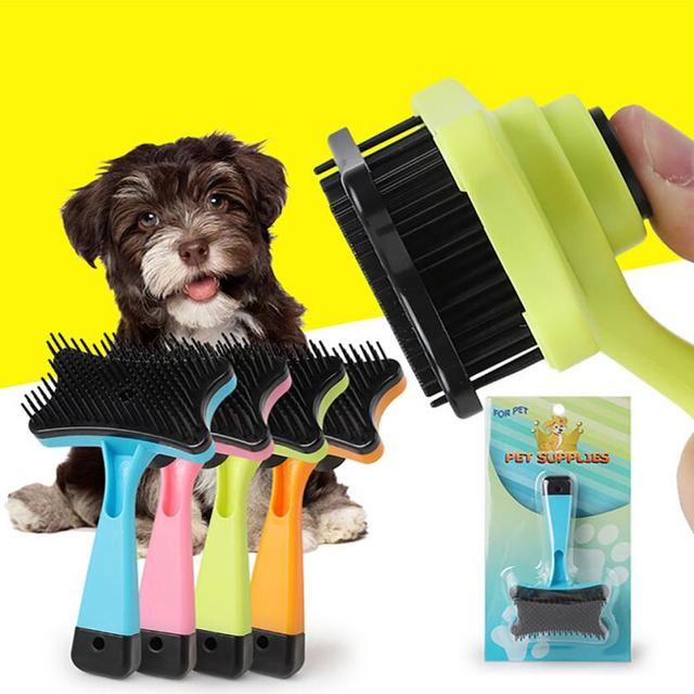 Dog Pet Hair Grooming Comb Cat Plastic Brush Puppy Dog Comb dog accessories supplies animaux accessoires chien #TX