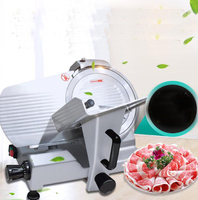 18 Commercial Semi Automatic Electric Frozen Meat Slicer Machine Lamb Beef Pork Meat Mincer Frozen Mutton