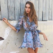 High fashion Spring summer flower Print Silk women playsuit  Elegant overall Summer Style beach playsuit wholesale