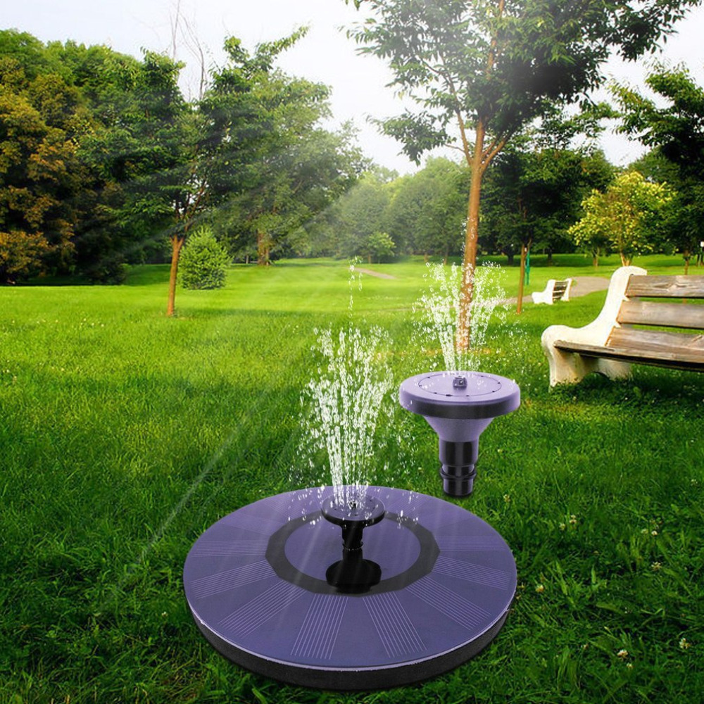 Solar Power Submersible Floating Fountain Pond Water Pump For Garden Pool Powerful Solar Pumps