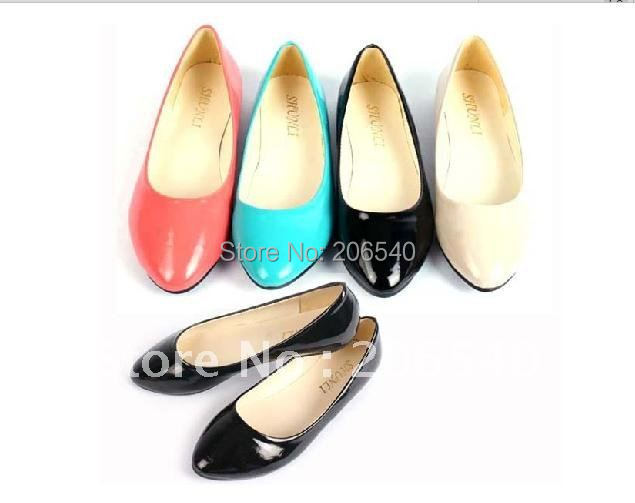 Korea Candy Color Sweet Casual Slip-on Flat Ballet Shoes Soft Soled Women Girl