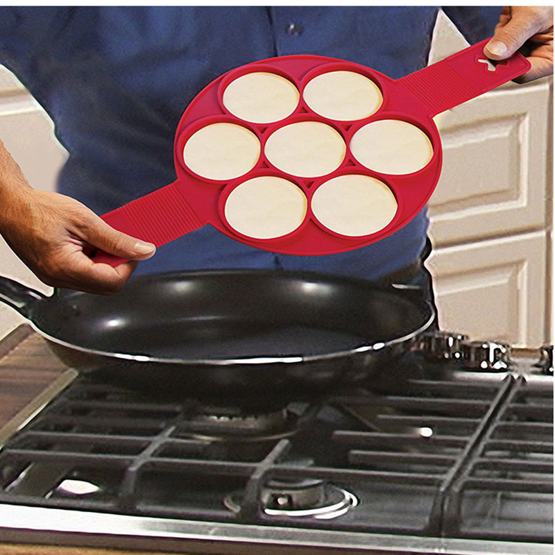 Perfect Non Stick Pancake Pan Flipper Breakfast Maker Egg Omelette Flipjack Tool Steel- en koekenpannen Koeken-, grill- braadpannen