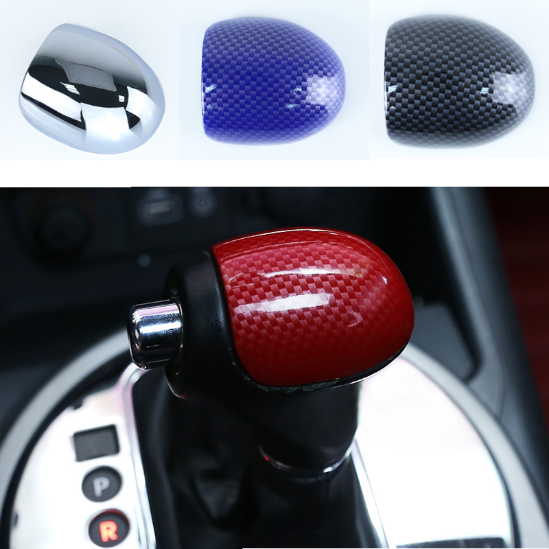 4 Color Carbon Fiber Car AT Gear Shift Knob Gear Head Cover For Kia Sportage R Cerato K3 K4 K5 Sorento 2011 2012 2013 2014 2015