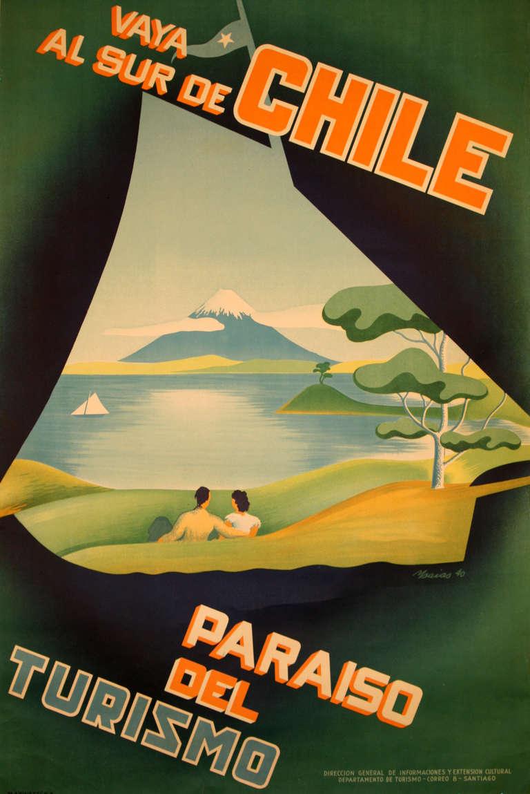 WAYA AL SUR DE chili – affiche DE peinture SUR toile Kraft, rétro, Vintage, cadre mural en alliage DE bois, affiches DE Bar maison, cadeau DE décoration