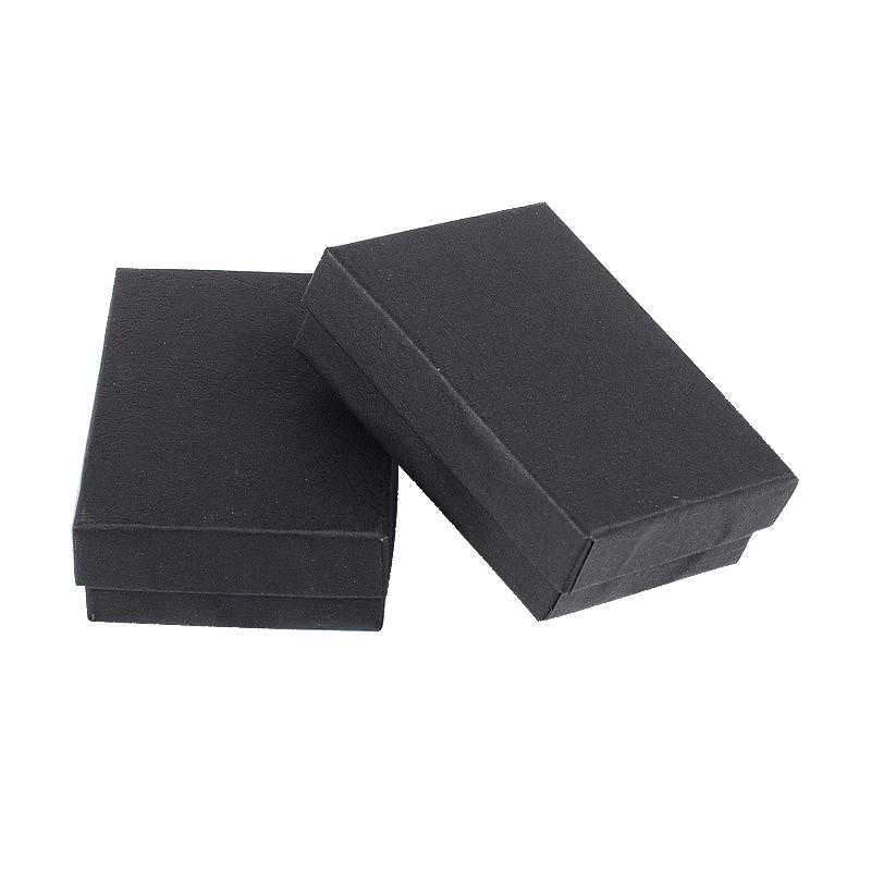 60 Stks/partij 9X6.5X2.8 Cm Rechthoek Wit Zwart Kartonnen Sieraden Set Dozen Voor Kettingen Oorbellen Ringen Kerst
