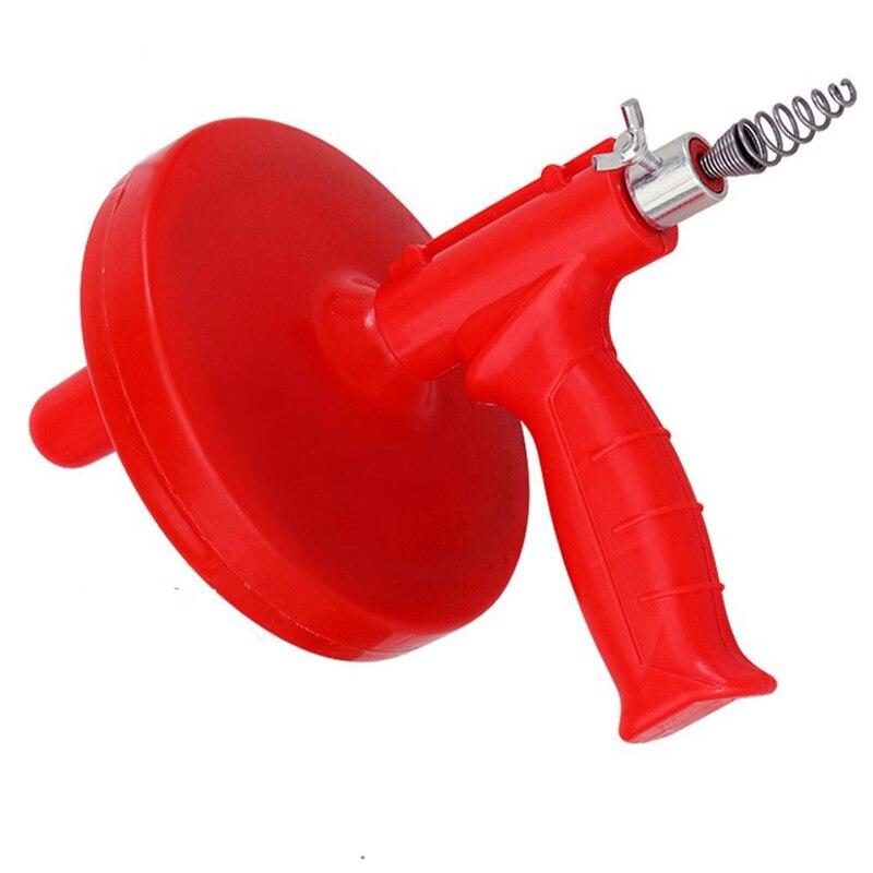 Air Power Drain Blaster Pistole Hochdruck Leistungsstarke Manuelle Waschbecken Kolben Opener Reiniger Pumpe Für Bad Toiletten Bad Küche Haus & Garten