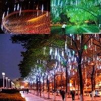 30CM Shower Rain Meteor Tube LED String Light For Wedding Garden 100 240V EU Plug Christmas