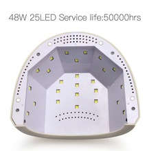 BURANO 48W UV LED Nail lamp 25 LEDs Nail dryer for UV Gel LED Gel with 5s/30s/60s timer nail machine nail art tools