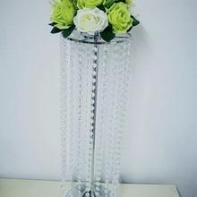 Высотой 70 см железная стойка ваза хрустальная свадебный стол центральные цветок подсвечник вечерние мероприятие способствует T-stage дорога свинец