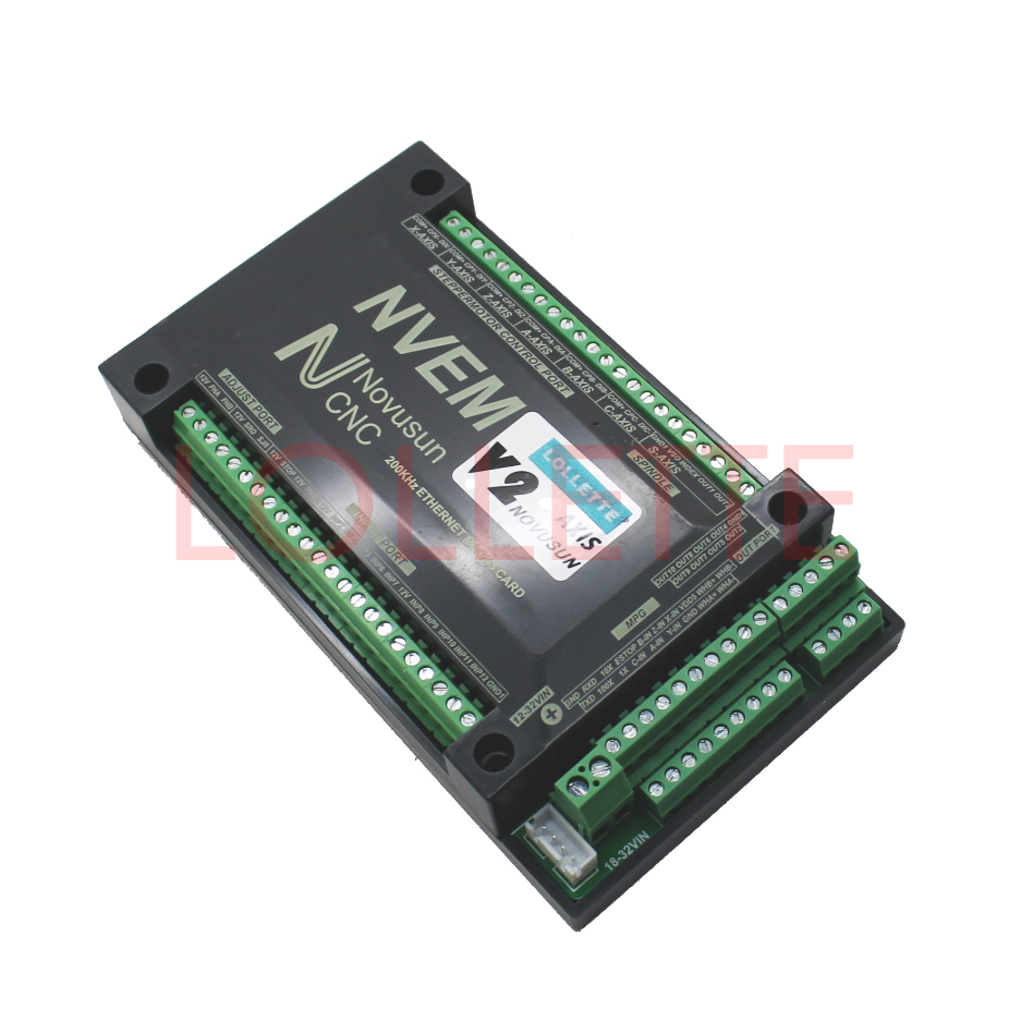 NVEM V2 MACH3 6-Axis version CNC Controller 300KHZ Ethernet Motion Control  Card for Stepper Motor