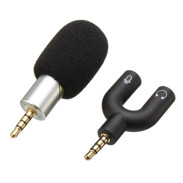 Portable Mini Microphone 3.5mm Audio Stereo Rotable Condenser Microphone Mic Studio Sound With Recording Shock Mount