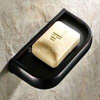Moderna Nero Olio di Bronzo Lucidato A Parete Bagno Portasapone Holder aba194