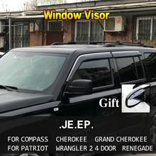 Оконный козырек Vent Защита от солнца и дождя дефлектор гвардии для JEEP Compass Cherokee Grand Cherokee Patriot Wrangler 2 4 двери Renegade