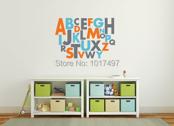 Large Alphabet Decal Reviews Online Shopping Large Alphabet - Vinyl wall decals alphabet