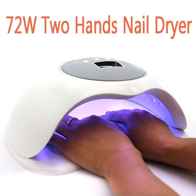 Nails Art & Werkzeuge 72 Watt Höchste Leistung Nagel Lampe Doppellichtquelle Größter Raum Led/uv Nageltrockner Licht Gel Curing Werkzeug Mit Bewegung Sensor