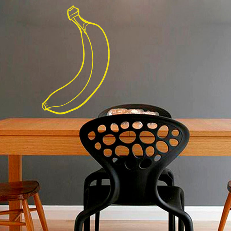 Dctop Banana Wall Stickers Kitchen Fruits Wall Decor Vinyl Wall Decals Removable Home Interior Design