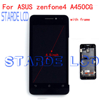 Starde Replacement LCD 4.5 for  Asus Zenfone 4 A450CG Display Touch Screen With Frame Digitizer Assembly